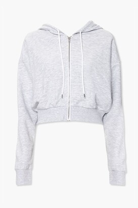 Forever 21 French Terry Zip-Up Hoodie