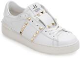 Valentino Garavani Rockstud Untitled Leather Sneakers, White