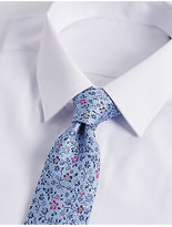 M&S Collection Pure Silk Floral Tie