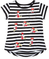 Disney Disney'sandreg; Minnie Mouse Striped Cotton T-Shirt, Little Girls (4-6X)
