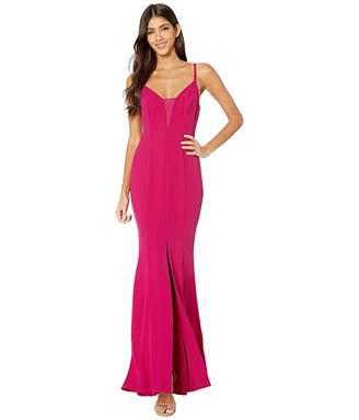 BCBGMAXAZRIA Sheer Inset Gown Dress