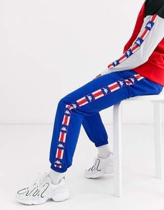 Kappa Authentic La Besail slim fit track pants in blue