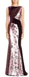 Talbot Runhof Mixed Sequin Gown