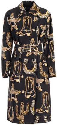 Versace Trench Nylon Baroque Printing