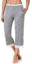 Kensie Floral Jersey & Lace Capri Sleep Pants