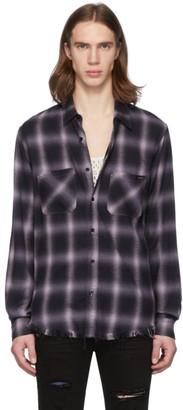 Amiri Purple and Black Shadow Plaid Shirt