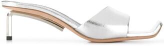 Off-White Metallic-Effect 65mm Sandals