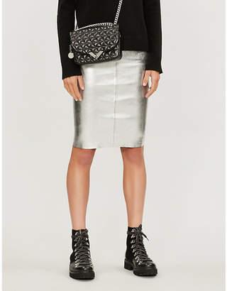 Zadig & Voltaire ZADIG&VOLTAIRE Jaden metallic high-waist leather mini skirt