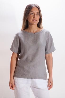 Belluna - Joel Short Sleeve Linen Top - Small