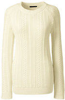Classic Women's Cable Shaker Sweater-Bavarian Creme
