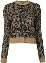 Muveil bow button cardigan - women - Cotton/Nylon/Acetate/Rayon - 40