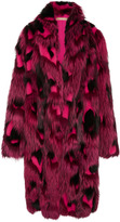 Michael Kors Leopard Intarsia Fur Coat