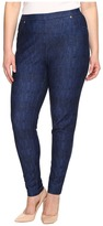 MICHAEL Michael Kors Plus Size Denim Pull-On Leggings in Blue Indigo Women's Jeans