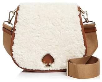 Kate Spade Suzy Large Fluffy Saddle Bag