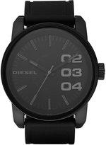Diesel Men's Black Silicone Strap Watch 46mm DZ1446