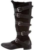 Vivienne Westwood Round-Toe Knee-High Boots