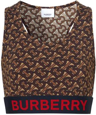 Burberry TB Monogram Jersey Crop Top