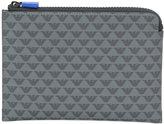 Emporio Armani logo print wallet - men - Calf Leather/Nylon - One Size