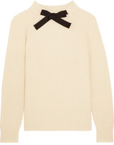 J.Crew Gayle Grosgrain-trimmed Knitted Sweater - Cream