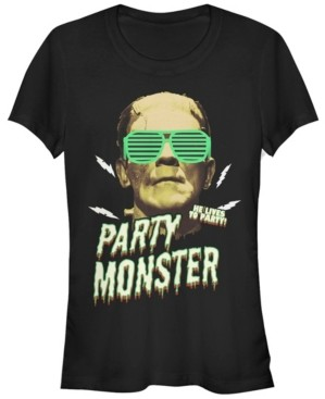 Fifth Sun Universal Monsters Women's Frankenstein Party Monster Short Sleeve Tee Shirt