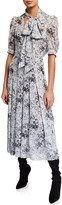 ADAM by Adam Lippes Floral-Print Bow-Neck Dress