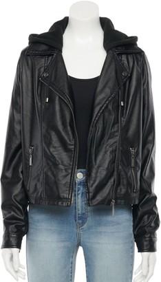 J2 By Jou Jou Juniors' Jou Jou Faux-Leather Biker Jacket