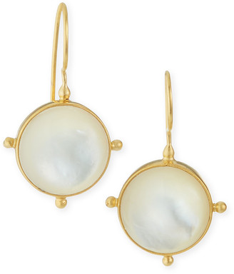 Dina Mackney Mother-of-Pearl Pinwheel Drop Earrings