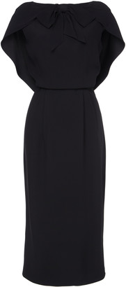Prada Cape-Effect Crepe Midi Dress