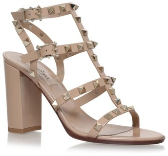 Valentino Garavani Leather Rockstud Sandals 90