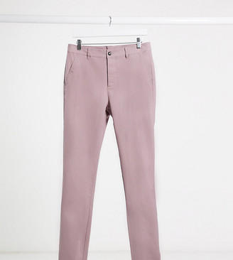 ASOS DESIGN Tall super skinny chinos in warm pink