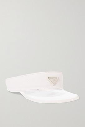 Prada Canvas-trimmed Pvc Visor - White