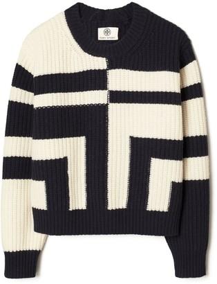 Tory Burch Ribbed Merino T Sweater