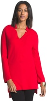 Chico's Norah Notched Neck Top