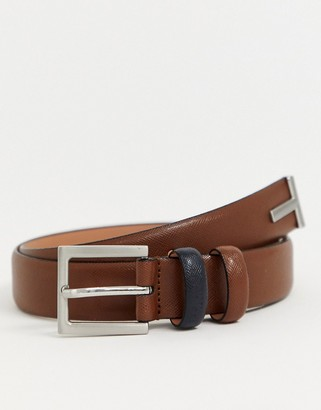 Ted Baker Inked leather belt in tan
