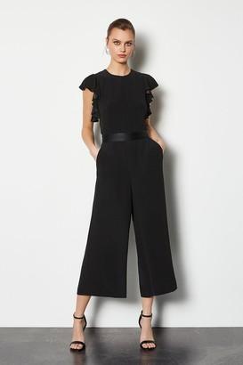 Frill Sleeve Crop Jumpsuit