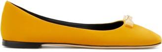 Giuseppe Zanotti Logo Plaque Ballerina Shoes