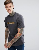 Columbia Csc Basic Logo T-shirt In Dark Grey