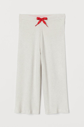 H&M Ribbed Culottes - White