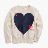 "J.Crew Girls' ""I love you more"" sweater"