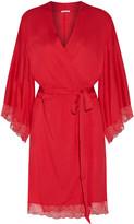 Eberjey Cassandra lace-trimmed stretch-jersey robe