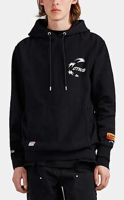Heron Preston Men's Graphic Cotton Hoodie - Black
