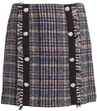 Veronica Beard Celie Tweed Mini Skirt