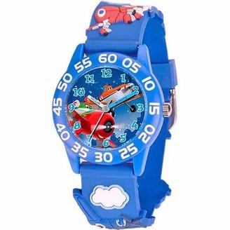 Disney Planes Dusty Crophopper & El Chupacabra Boys' 3D Plastic Watch, Blue Strap