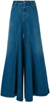 MM6 MAISON MARGIELA flared high waist jeans - women - Cotton/Polyester - 38