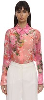 Givenchy Floral Printed Silk Charmeuse Shirt