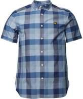 Lyle And Scott Vintage Mens Short Sleeve Check Shirt Navy
