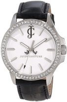 Juicy Couture Women's 1900972 Jetsetter Black Leather Strap Watch