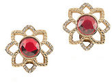 Carolee The Big Apple 12K Goldplated Button Earrings