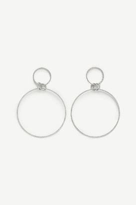Ardene Faux Gemstone Hoop Earrings