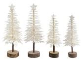 Nobrand No Brand White Paper Decorative Christmas Trees 4ct
